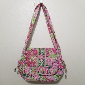 Vera Bradley Quilted Purse Pink Green Floral